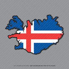 Etiqueta engomada de la bandera de Islandia Mapa-Coche-Laptop-Macbook Notebook - 2960