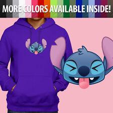 Pullover Sweatshirt Hoodie Sweater Lilo & Stitch Funny Face Smile Disney Emoji