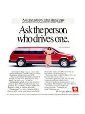 1990 Dodge Caravan Van -  Vintage Advertisement Car Print Ad J423