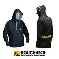 Roughneck Black & Grey Zip Hooded Sweatshirt - XL hard-wearing lightweight desi