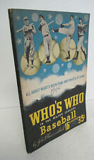 WHO'S WHO In The Major Leagues BASEBALL 1948