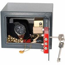Tresor: Kompakter Stahlsafe mit 2 Doppelbart-Schlüsseln, 5 Liter (Mini Safe)