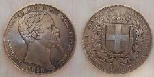 Vitt. Emanuele di savoia 5 lire 1850 genova