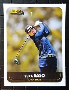 YUKA SASO 2021 rare oddball rookie golf card SI for Kids LPGA