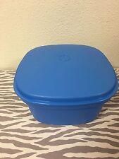 Tupperware Steam n Serve 3 Piece Blue Microwave Cooker New Steamer 10 Cups