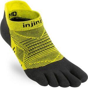 Injinji Run Lightweight No-Show Five Finger Running Toe Socks Limeade