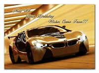 c257 Large Personalised Birthday card; Custom made for any name; BMW sport car