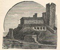 A6371 Lerici - Castello - Stampa Antica del 1928 - Incisione