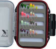 Ice Fishing Jig Kit Tungsten 24 Jigs with Ice Jig Box, Panfish Jigs, Crappie Jig
