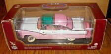 1955 Ford Fairlane Crown Victoria Car & Display Stand 1:18 Red Yat Ming Toy Pink