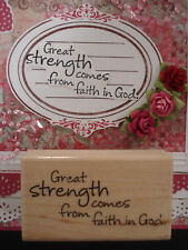GREAT STRENGTH  COMES FROM FAITH IN GOD sayings RELIGIOUS Stampendous