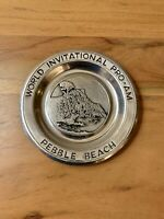 Pebble Beach Pewter Plate World Invitational Pro Am Golf Wilton USA 10 7/8 inch
