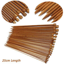 36Pcs/1 Set 18 Sizes Carbonized Bamboo Single Pointed Crochet Knitting Needle OK