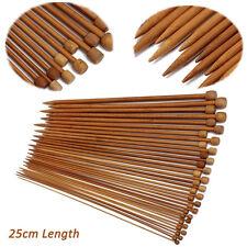 36Pcs/1 Set 18 Sizes Carbonized Bamboo Single Pointed Crochet Knitting Needle js