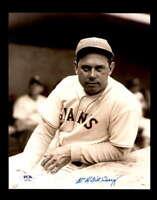 Bill Terry PSA DNA Coa Hand Signed 8x10 Photo Autograph