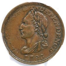 1783 PCGS AU 55 UNITY STATES Washington Colonial Copper Coin