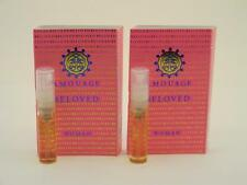 2 x Amouage BELOVED WOMAN EDP Eau de Parfum 2ml Vial Spray New With Card
