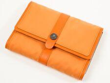 New Roberto Cavalli Freedom Collection Orange Bifold Large Wallet