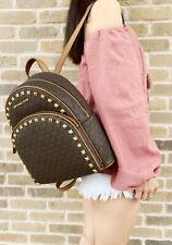 Michael Kors Abbey Medium Backpack Brown Acorn Studded