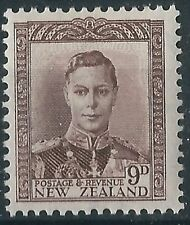 k335) New Zealand. 1947/52 SG 685 9d. Purple-brown. Royalty