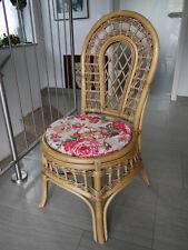 Stuhlkissen rund 40 Ø cm x 4 cm Sitzkissen Blumen-Motiv Sevilla