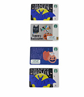 Starbucks Halloween Gift Card Lot $0 Balance 2017 2018 2019 Lot of 4 New