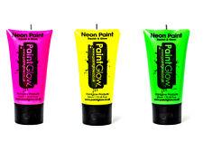 PAINTGLOW neon uv viso e corpo colori RAVE DA FESTA 50ml Set di 3