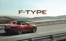 Jaguar F-Type UK Brochure 2012-2013 3.0 V6 340PS/S 380/5.0 V8 S 495PS 78 Pages