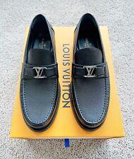 Authentic Louis Vuitton Black Mens Leather Major Loafer US8 EU41 UK7 RRP $885