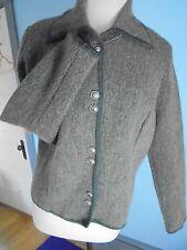DENBIGH KNITWEAR England Wool Ladies S CARDIGAN SWEATER Jacket Green Heather