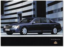 Maybach 57-62 Promo Brochure Card
