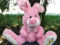 Dan Dee Pink Easter Bunny Rabbit Lovey Plush SOFT Stuffed Animal LOW LOW PRICE