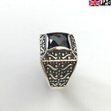 Turkish Handmade 925 Sterling Silver Dark Red Ruby Ring Size 11, UK Seller