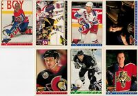 1993-94 Topps Premier NHL Hockey promo card set Ray Bourque Messier Patrick Roy