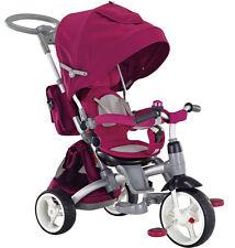 Kinderwagen Dreirad Kinderfahrad für Kinder 1-6 Jahre Schiebstange Lila