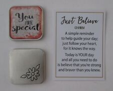 bb You are special JUST BELIEVE Pocket token charm ganz flower