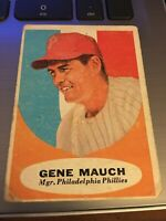 1961 Topps Gene Mauch Philadelphia Phillies Manager Vintage Trading Card #219