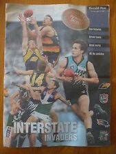 INTERSTATE INVADERS..HERALD SUN APRIL 1999..AFL..EAGLES..CROWS..POWER..DOCKERS
