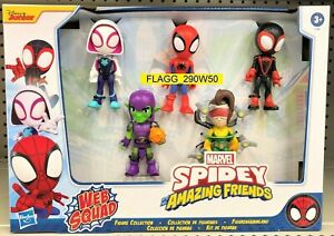 Marvel SPIDEY And His Amazing Friends WEB SQUAD Ghost-Spider Goblin Doc Miles