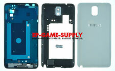 Samsung Galaxy Note 3 N9005 Full Housing LCD Middle Frame Battery Cover White