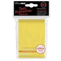 50 Ultra Pro YELLOW Deck Protector Standard Card SLEEVES MTG Magic Pokemon 82675