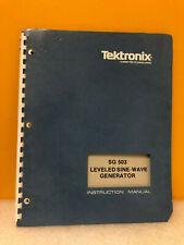 Tektronix 070 1622 01 Sg 503 Leveled Sine Wave Generator Instruction Manual