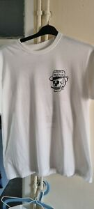 Rum Knuckles t shirt in white  size XL