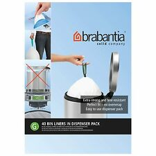 Brabantia Bin Liners G, 30 Litre - 40 Waste Bags Strong Quality
