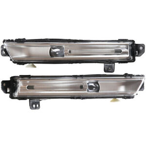 Pair Left Right Fog Lamp Daytime Run Light Fit For Jaguar F-Pace E-Pace I-Pace