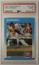 Greg Maddux 1987 Fleer Update #U68 Rookie PSA 9