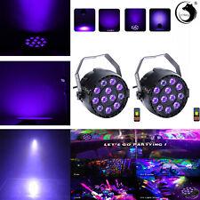 2X LED Par Can Bühnenlicht Schwarzlicht Strahler DMX Disco Lichteffekt Halloween