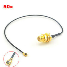 50pcs RP-SMA Female to u.FLIPX WIFI Antenna Extension Cable MINI PCI Card 17cm
