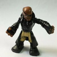 "rare Playskool Heroes 2.5"" Nick Fury Marvel Super Hero Squad Adventures figure"