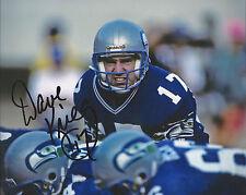 Seattle Seahawks DAVE KRIEG Signed 8x10 Photo